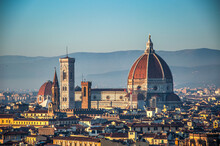 View On Florence Cathedral And Giotto Bell Tower, Florence