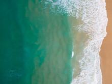 PHUKET,THAILAND. Aerial View Beach And Sea. White Beach Beach Sand And Blue Sea Water. White Yacht On Sea.
