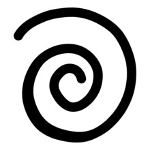 Spiral Line Icon Outline Hand Drawn Vector. Swirl Whirlpool