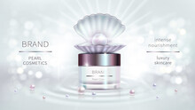 Pearl Cosmetics, Vector Realistic Advertising Poster