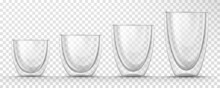 Glass Empty Cups With Double Wall