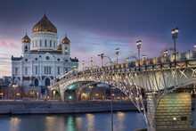 Cathedral Of Christ The Saviour In The Evening