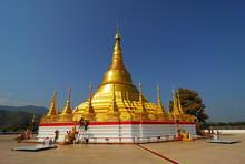 Tachileik Shwedagon Golden Pagoda, Myanmar.