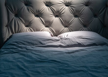 Double Bed With Wrinkled Linens
