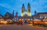 Fototapeta Perspektywa 3d - Bressanone Christmas market in the evening. Trentino Alto Adige, northern Italy.