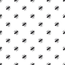 Seamless Vector Pattern With Doodle Bugs On White
