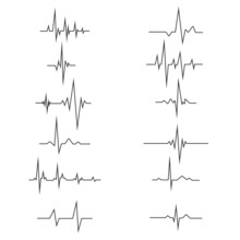 Heartbeat Line. Cardiogram Medical Background. Vector Illustration Of A Heart Beating.