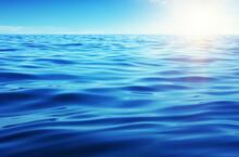 Blue Sea Water On Sky