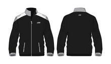 Sport Jacket Grey And Black Template For Design On White Background. Vector Illustration Eps 10.