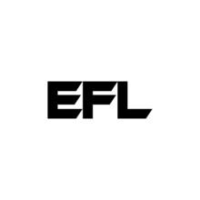 EFL Letter Logo Design With White Background In Illustrator, Vector Logo Modern Alphabet Font Overlap Style. Calligraphy Designs For Logo, Poster, Invitation, Etc.
