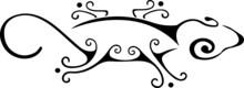 Lizard Maori Style. Tattoo Or Logo Tribal Sketch.  Vector Illustration Design Lizard, Symbol Icon.