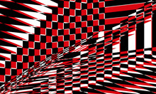 Red Black Pattern On White Background Creative Op Art Style Texture