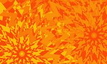 Orange Wallpaper For Design With Patterns Like Stars