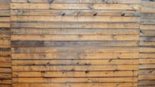 Old Brown Wooden Lath Textured Wall Background