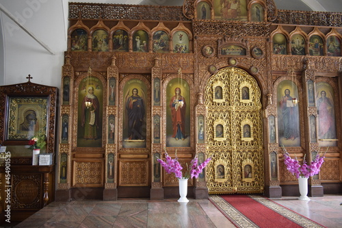 Photo altarpiece in the orthodox church
