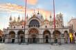 Saint Mark's Basilica at sunset in Venice, Italy