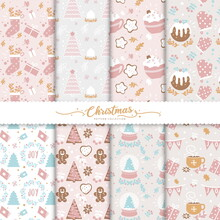 Cute Christmas Seamless Pattern Collection