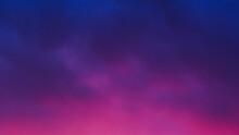Ciel Mauve Après Le Coucher Du Soleil, Sous Un Temps Couvert Et Faiblement Pluvieux