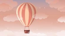 Hot Air Balloon In The Desert,balloon, Balloon At Sunset, Desert, Summer, Summer Vacation, Relaxation