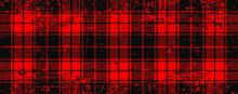 Red Lumberjack Style. Vector Gingham And Bluffalo Check Line Pattern. Checkered Picnic Cooking Table Cloth. Texture From Rhombus, Squares For Plaid, Tablecloths. Flat Tartan Checker Print. Old