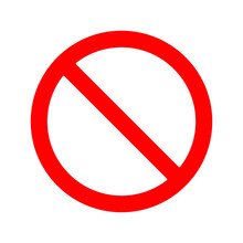Prohibited Sign Vector. No Parking Traffic Sign Vector