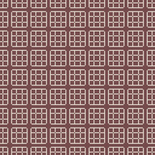 Abstract Vector Mesh Ornament. Small Squares In Brown Color With Straight Vertical And Horizontal Lines. Vintage Pattern Can Be Used For Wallpaper, Cover, Textiles, Plaid, Packaging