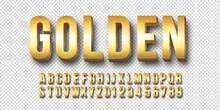 Gold 3d Font Vector