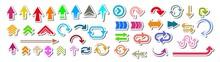 Vector Arrows Set. Vector Arrows Set. Arrows Icons Set. Arrows. Colorful Vector Collection Of 3d Arrows.