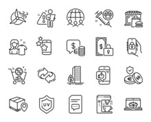 Vector Set Of Refresh, Search Employee And Private Payment Line Icons Set. Parcel Tracking, Dog Vaccination And Coins Icons. Clean Shirt, Windmill Turbine And Best App Signs. Vector