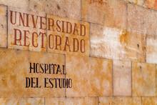 Pared Con Letras O Poster With Letters En La Ciudad De Salamanca, Comunidad Autonoma De Castilla Y Leon, Pais De España O Spain