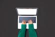 Leinwandbild Motiv Person using a laptop computer