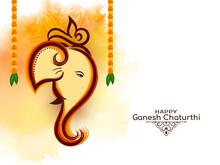 Mythological Happy Ganesh Chaturthi Hindu Festival Background