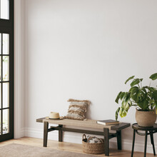 Friendly Interior Style. Living Room. Wall Mockup. Wall Art. 3d Rendering, 3d Illustration