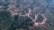 Aerial View Of Pai Canyon (Kong Lan) On Sunset, Maehongson,