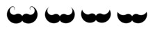 Mustache Simple Vector Icon. Mustache Hair Simple Shape Collection In Flat Style. Vector Illustration Isolated.
