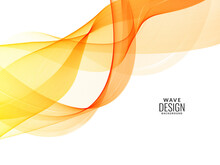 Decorative Design Modern Pattern With Stylish Smooth Yellow Wave Background