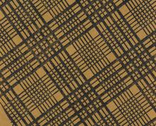 Luftpost Airmail Air Mail Briefumschlag Envelope Innen Inside Innenseite Design Muster Pattern Papier Paper Orange Karo Schwarz Black Lines Linien