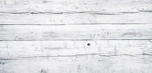 White Painted Chipped Wood Texture With Flat Wooden Boards Background