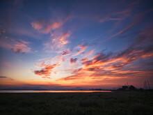 野付半島の夕焼け