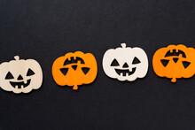 Halloween Jack O Lantern On Blck