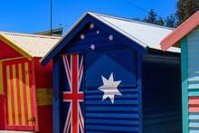Brighton Beach Bathing Boxes In Melbourne, Victoria, Australia