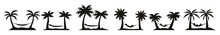 Palm Trees Silhouettes Vector Eps 10