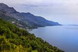 Wybrzeże Chorwackie z widokiem na morze Adriatyckie i góry Biokovo