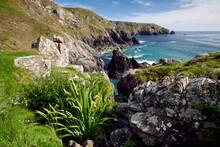 Dramatic Coastal Scenery Of The Lizard Peninsula, Cornwall, UK