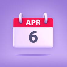 3D Calendar - April 6th