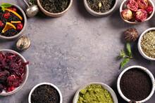 Assortment Of Various Tea And Teapot