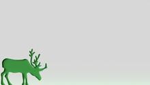 Background Wallpaper Pattern Green Deer Silhouette Animal Day 3d Render