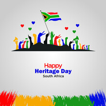 Heritage Day In South Africa. Public Holiday Celebrated On 24 September. Template For Background, Banner, Card, Poster. Vector Illustration.