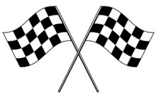 Racing Checkered Flag Icon For Car Racing. Speed Flag. Chequered Racing Flags Isolated Vector Illustration