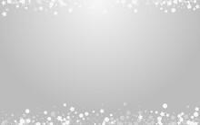 Grey Stars Vector Grey Background. Silver Festive